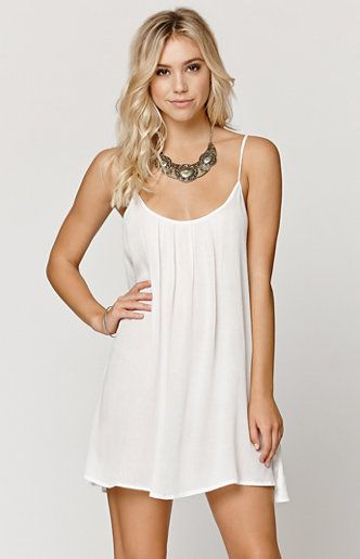 "A PacSun.com Online Exclusive! The Sweet Vida Solid Dress by Roxy for PacSun.com offers a solid coloring throughout and comfortable flowy fit. We love the thin straps with a subtle thread wrapped detail. Complete this stylish look with our sandals and layered jewelry!   	Unlined 	31"" length 	Measured from a size small 	Model is 5'9"" and wearing a small 	100% viscose 	Hand wash only 	Imported"