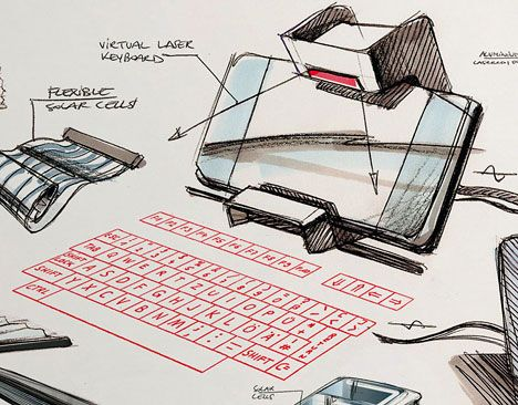 product design sketches.