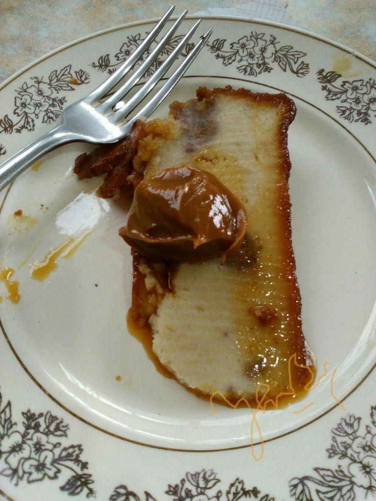 Budín de pan con nueces y dulce de leche!... Bien Argentino