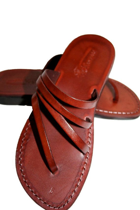 Brown Rainbow Leather Sandals for Men & Women por SANDALI en Etsy