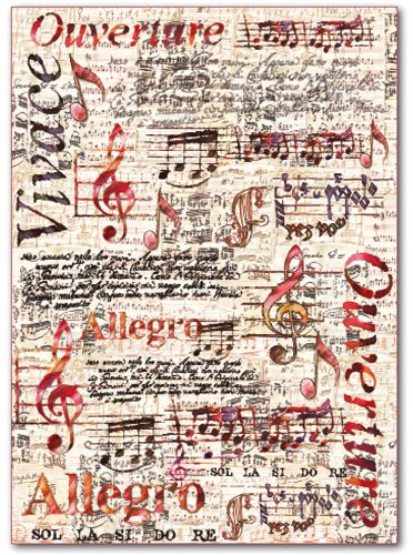 FELTRO STAMPATO NOTE MUSICALI di CI.EFFE.FERRAMENTA su DaWanda.com