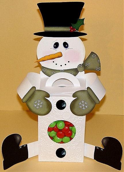 Snowman Hugger Treat Box Printable | Crafts | Pinterest