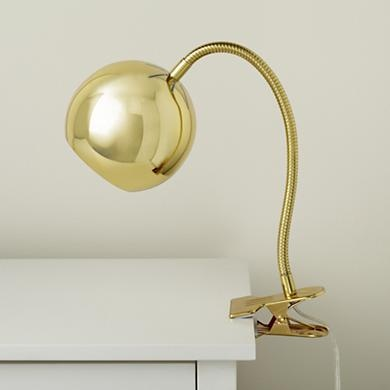Would be great as lamp in our small bedroom - clip on Headboard: Kids Lights, Vintage Clips, Table Lamps, Gold Clips, Gold Vintage, Clips Lamps, Tables Lamps, Desks Lamps, Modern Clips