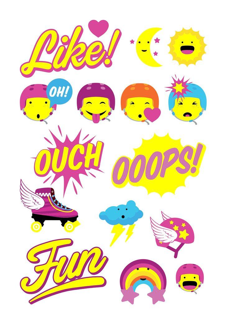 Resultado de imagen de stickers de soy luna