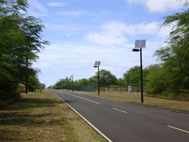 Making the roadways greener with solar street lights