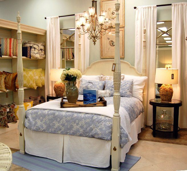 Want to paint my rice bed cream and add bed hangings in blue.