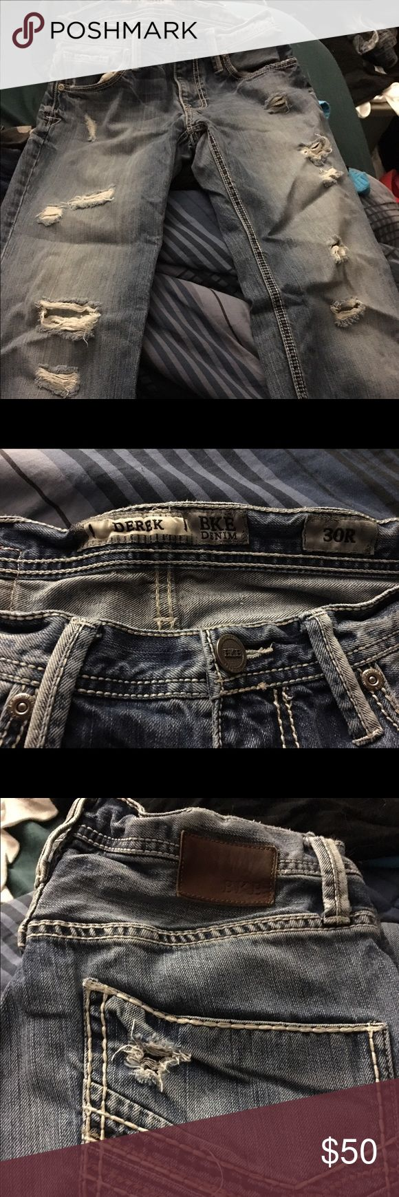 Men's Buckle jeans Men's buckle jeans in the destroyed look Buckle Jeans Bootcut