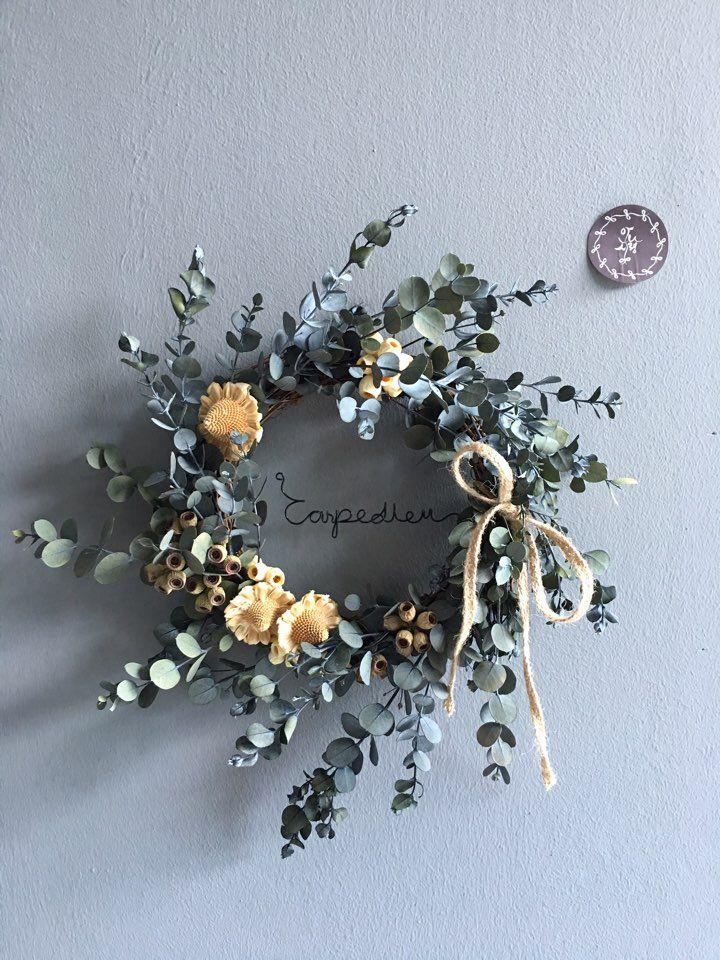 Preserved flower,wire Carpe-diem...
