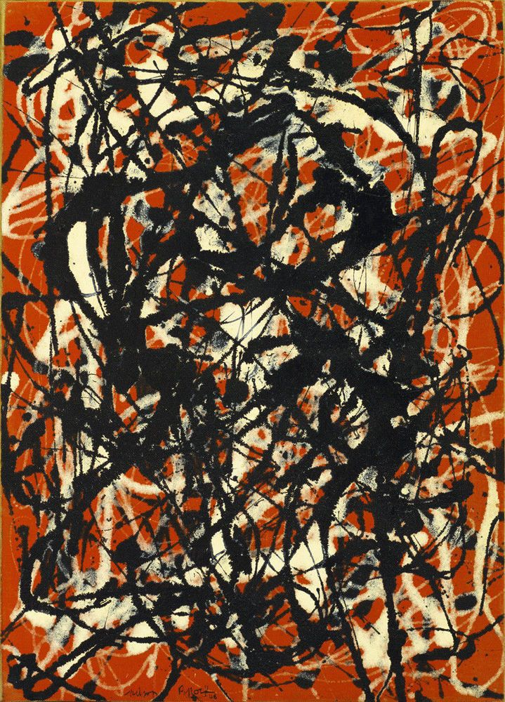 free form jackson pollock original  Jackson Pollock - Free Form HD Print on Canvas 8 x 8 ...