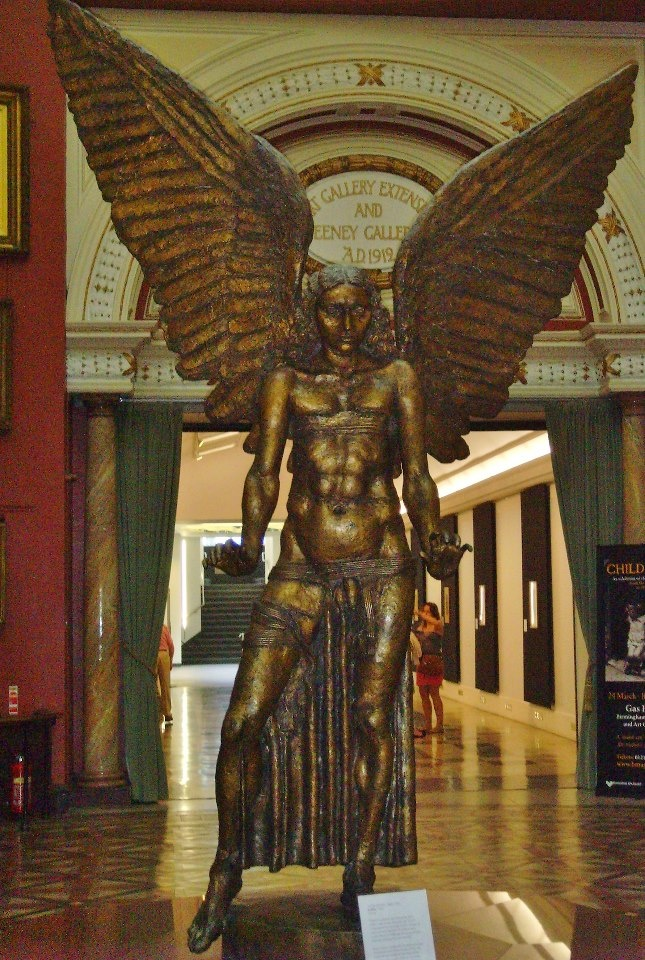 'Lucifer' (Bronze) by Sir Jacob Epstein, Birmingham Art Gallery, Birmingham, England.