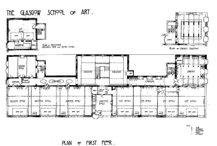 Glasgow School Of Art Floor Plan Architecture Classics Of The 20th Century Pinterest