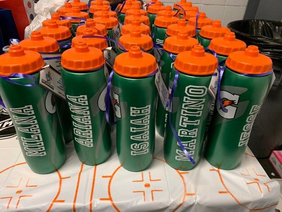 Customized Gatorade Type Sports Bottle Labels Name Sticker Only For Favors Fit Any Size Bottle You Have In 2020 With Images Sport Bottle Gatorade Bottle