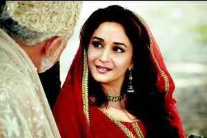 Here's an exclusive still of Madhuri Dixit in Abhishek Chaubey's upcoming film 'Dedh Ishqiya'. The actress plays Begum Para, who resides in a palace in Mehmudabad, and whose mehfils are stuff legends are made of.