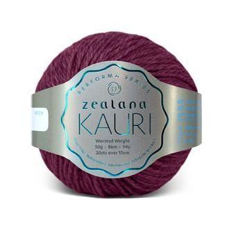 Zealana KAURI Worsted K14 Red Tuhi