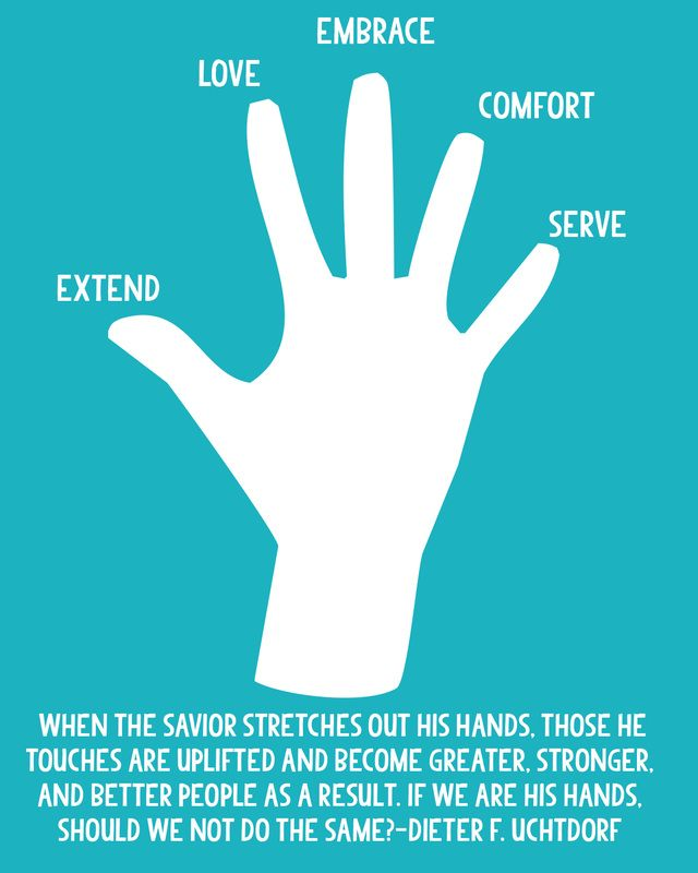 Come, Follow Me handouts for October-How can I be more Christlike in my service to others? Free download from LDS Nest