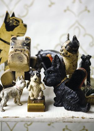 Folk art dogs collection