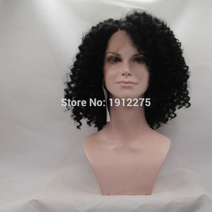 (33.15$)  Watch here - http://aisgi.worlditems.win/all/product.php?id=32523868867 - new natural black curly wig synthetic kinky curly hair lace front wigs for women 10-16inch 180%density heat resistant hair