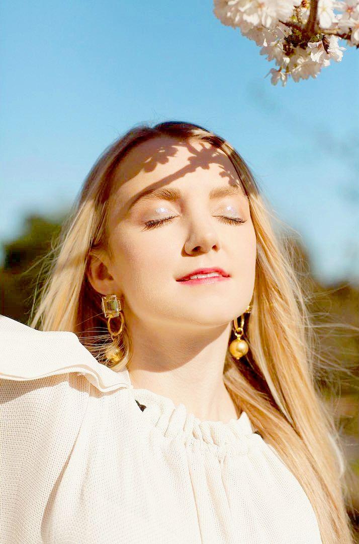 Evanna Lynch photographed by Naomi Gaffey for Irish Tatler (May 2017)