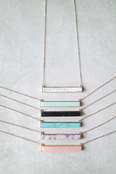 Stone Bar Necklace | Pinterest: asherami ↞∙∙∙∙↠