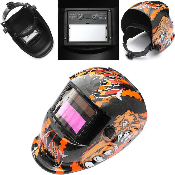 Welding Tool Bear Solar Power Auto Darkening Welding Helmet Lens Arc Tig Mig Grinding Electric Welder Mask #Affiliate
