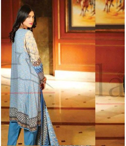 Lala Classic Embroidered Linen Suits collection LLE_08B