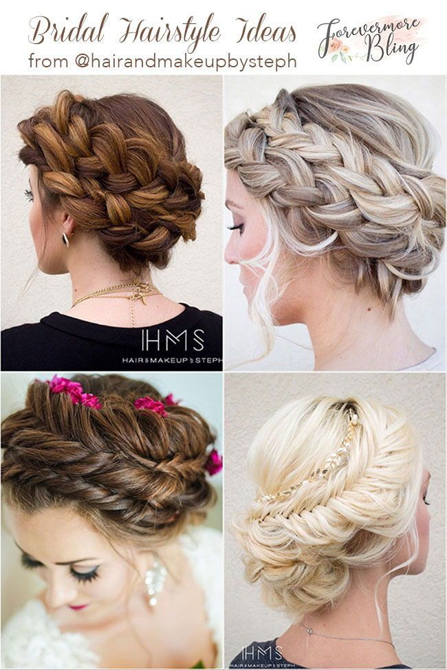 Elegant Crown Braids With Beautiful Flora Low Updos Wedding Hairstyles Longhair Longhairstyles C Braids For Long Hair Braided Hairstyles Easy Hair Styles