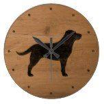 Black Labrador Retriever Silhouette Large Clock  #Black #Clock #Labrador #Large #Retriever #RusticClock #Silhouette The Rustic Clock