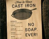 Items similar to Cast Iron Pan Print on Kraft Paper - 11 x 17 on Etsy