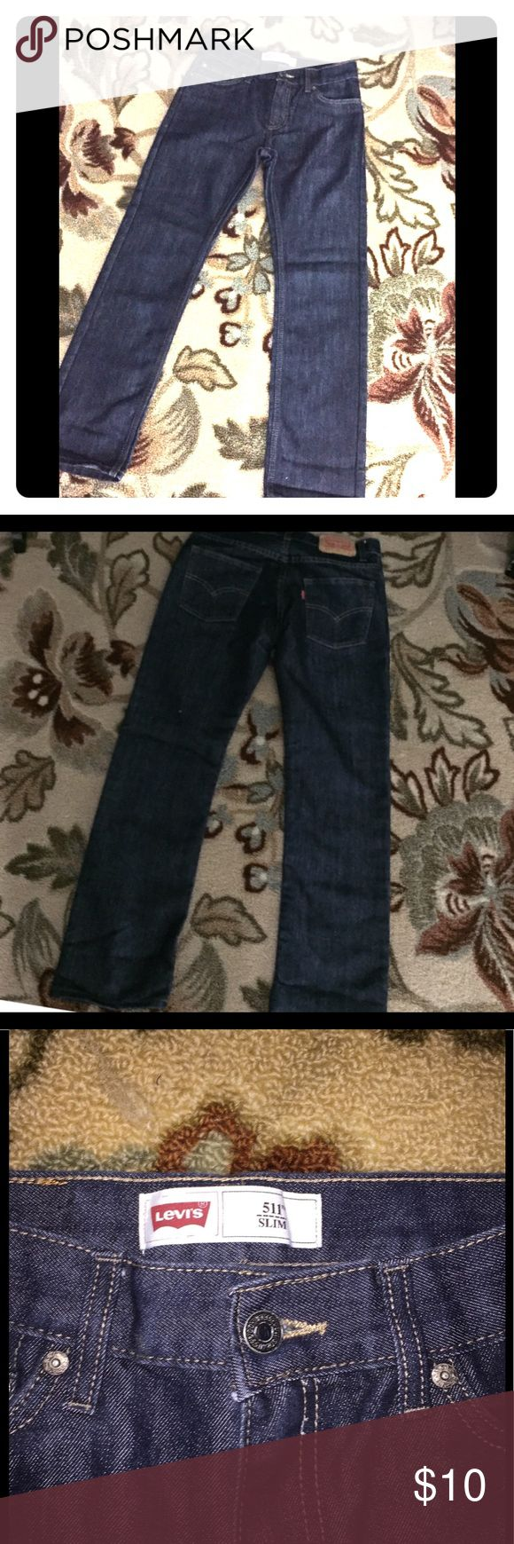 Levi's 511 Straight Fit Dark Wash Jeans sz 14/0 Levi's 511 Straight Fit Dark Wash Jeans sz 14 junior 0 women..: good condition Levis Jeans Boyfriend