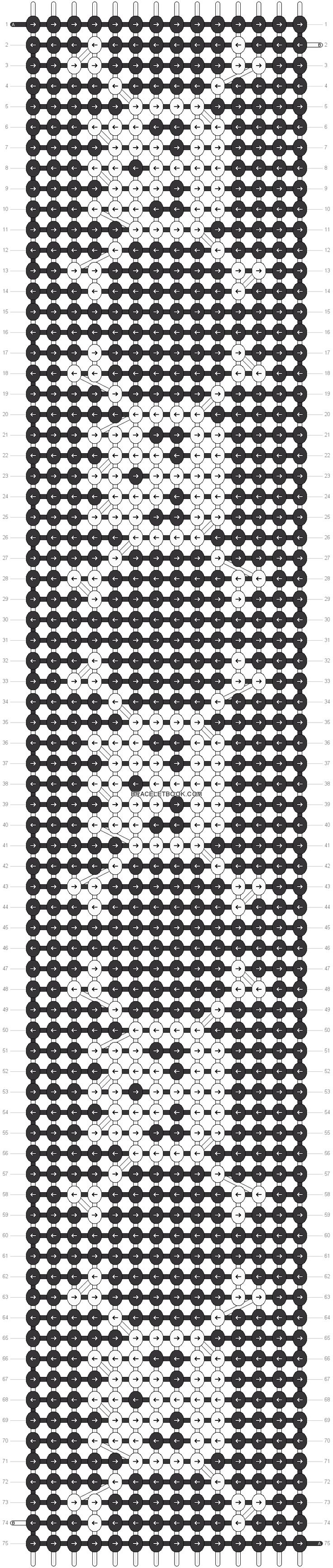 Skull friendship bracelet pattern number 15498 - For more halloween patterns visit our web or the app!