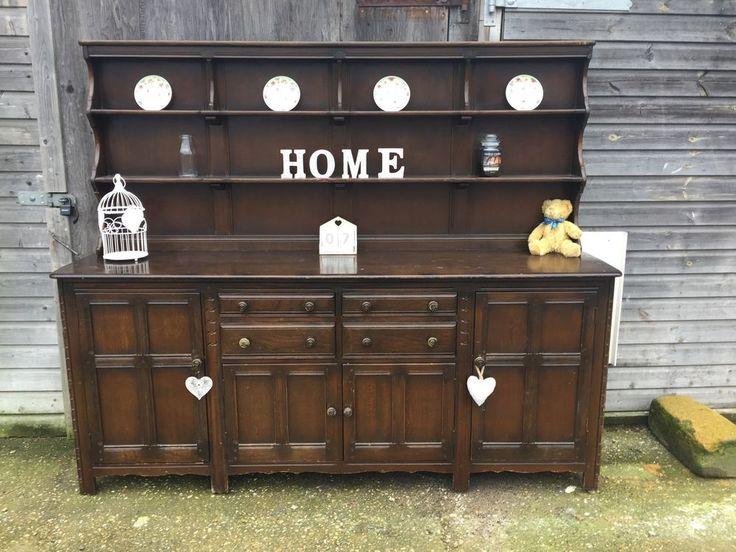 Large Ercol Dresser Sideboard Cupboard