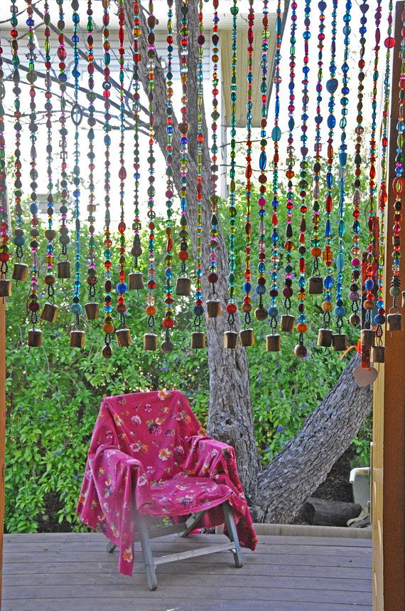 Beaded Curtain-Bead Curtain- Bohemian Curtain-Window Curtain-Beaded ...