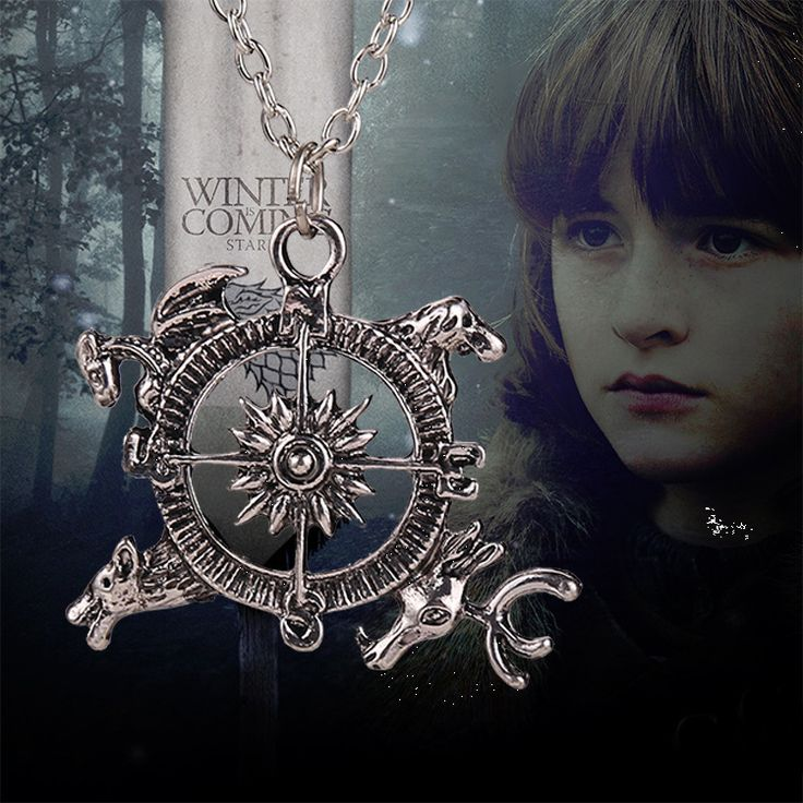 Игра престолов, кулон-компас на цепочке из фильма