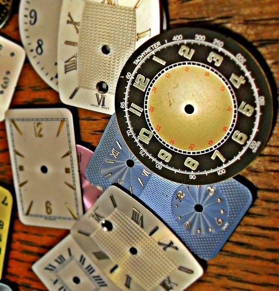 Weiteres - UHRIG SET echte alte Armbanduhren Zifferblätter - ein Designerstück von Schloss-Klunkerstein bei DaWanda