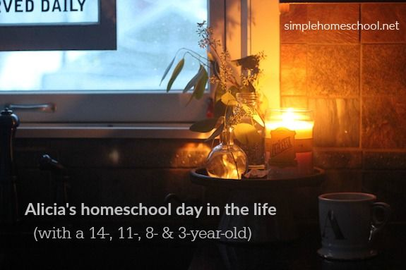 Alicia's homeschool day in the life (with a 3-, 8-, 11-, & 14-year-old) - Simple Homeschool