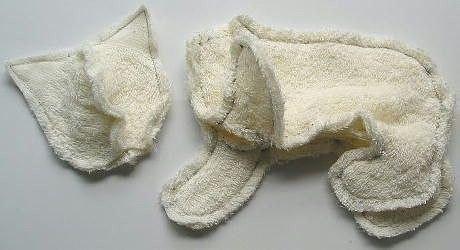 Мягкие игрушки-котята из полотенца.