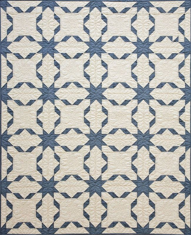 Simply pattern but so beautiful and it will really showcase the quilting.