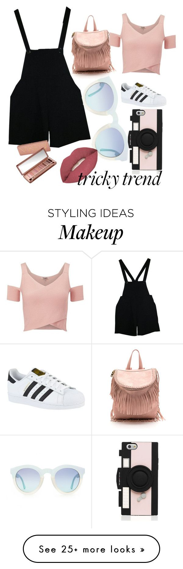 """""""Yeay"""" by lliiss on Polyvore featuring American Apparel, adidas, Kate Spade, Smashbox, Urban Decay, Lipsy, TrickyTrend and overalls"""