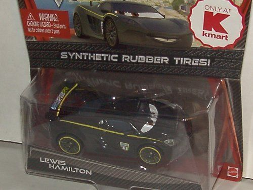 Disney- Pixar - Synthetic Rubber Tires -Kmart Exclusive - CARS2 - 1:55 Scale - Lewis Hamilton - NEW MOC by Mattel. $10.79. 1:55 scale. Disney Pixar Cars Kmart Exclusive with Synthetic Rubber Tires from Mattel. Ages 3+. LEWIS HAMILTON. Disney- Pixar - Synthetic Rubber Tires -Kmart Exclusive - CARS2 - 1:55 Scale - Lewis Hamilton - NEW MOC