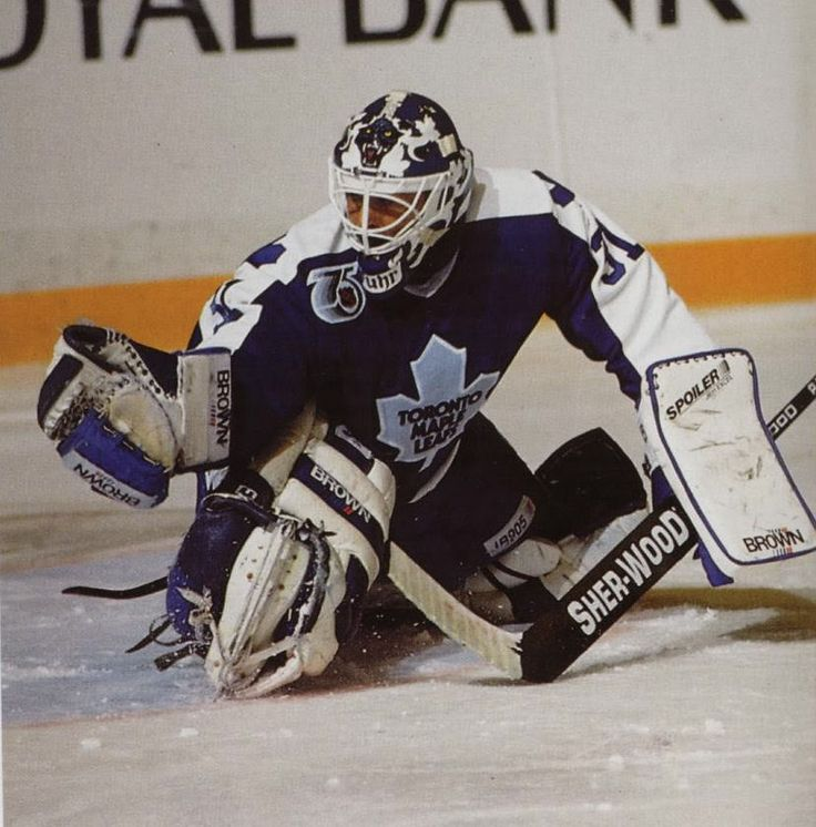 Grant Fuhr in the net for the Toronto Maple Leafs. #toronto #grantfuhr #leafs