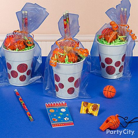 Basketball Party Ideas for Boys | what s a party without party favors fill a basketball