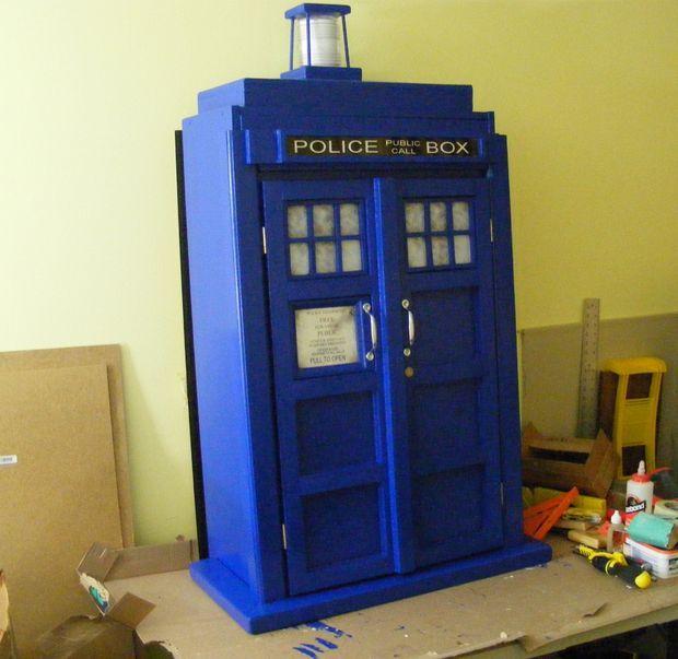 TARDIS Bookcase Cupboard   Goodhart Maker Den Of Unequity Storage Cabinet