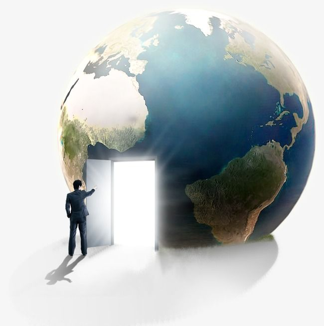 Earth The Effects Of The Earth Open The Door People Creative Taobao 3d Wall Painting Earth Creative