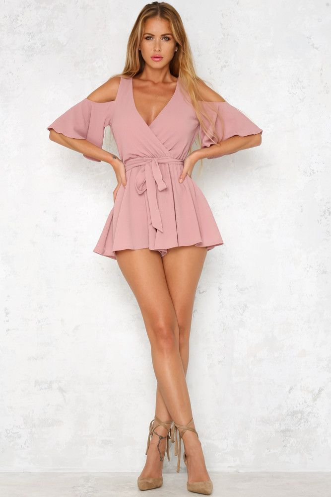 Such A Delight Playsuit Blush