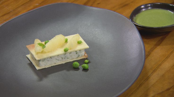 Goats Cheese Parfait with Mint Sauce