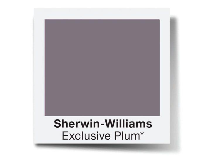 Novas tintas: paredes mais limpas, impermeáveis e sem fissura - Casa. Sherwin-Williams Exclusive Plum.