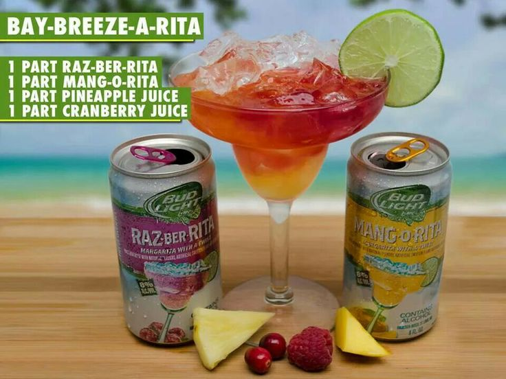 Bay-Breeze-a-rita raz-ber-rita mang-o-rita bud light lime