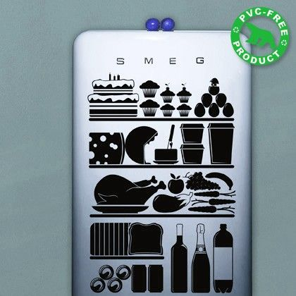 Love the idea of fridge stickers! Way to make your boring old fridge a piece of art.