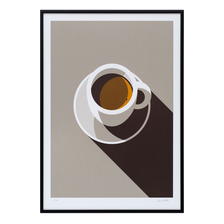Espresso A3 limited edition screen print