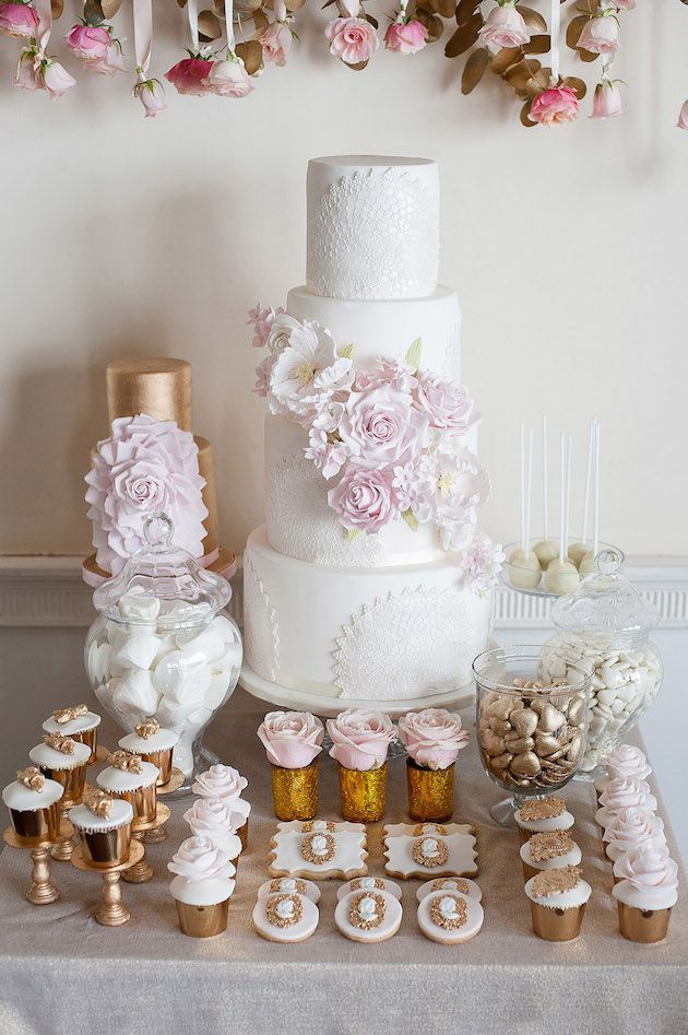 Beautiful baroque dessert table